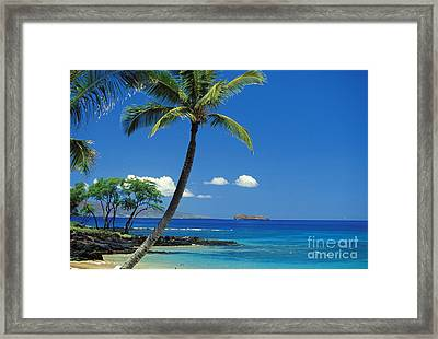 Maui, View From Makena Framed Print by Ron Dahlquist - Printscapes