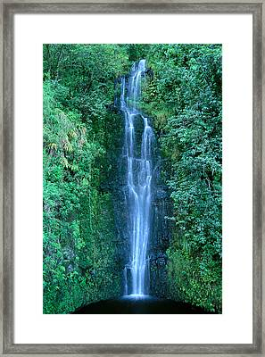 Maui Waterfall Framed Print by Bill Brennan - Printscapes