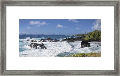 Maui Waters II Framed Print by Jon Glaser