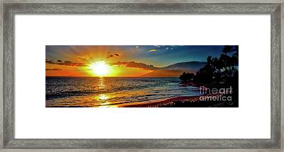 Maui Wedding Beach Sunset  Framed Print