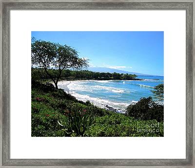 Mauna Kea Beach Framed Print