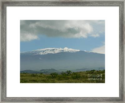 Mauna Kea Framed Print by Don Lindemann