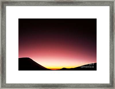 Mauna Kea, Summit Framed Print by Mary Van de Ven - Printscapes