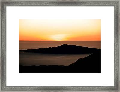Mauna Kea Sunset Framed Print