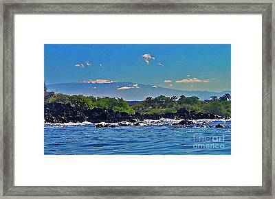 Mauna Kea With Snow Framed Print by Bette Phelan