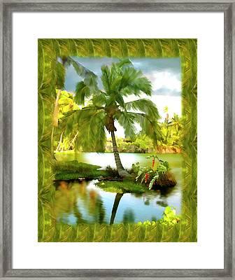 Mauna Lani Palm I Framed Print