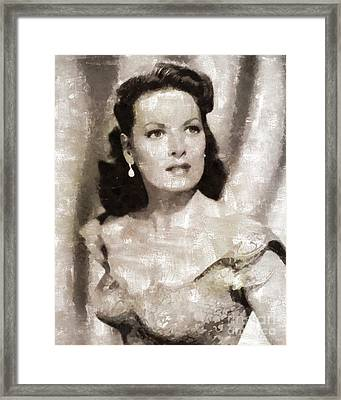 Maureen O'hara, Hollywood Legend By Mary Bassett Framed Print