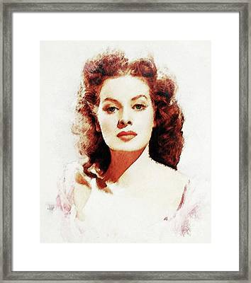 Maureen O'hara Framed Print