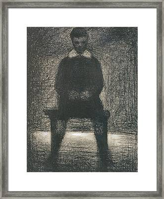 Maurice Appert Seated Framed Print