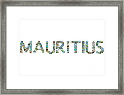 Mauritius Pictures Collage Framed Print