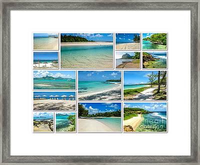 Mauritius Tropical Beaches Collage Framed Print