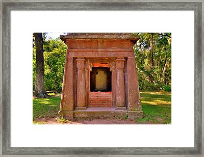Mausoleum At St. Helena Islands,chapel Of Ease Bluffton Sc Framed Print by Lisa Wooten