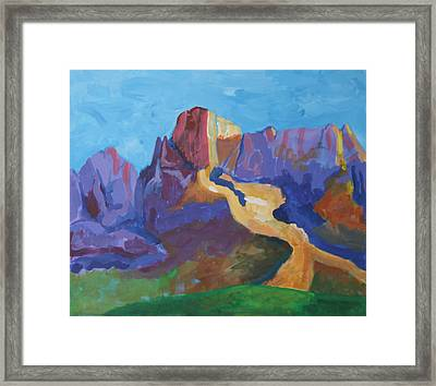 Mauve Catalina Framed Print by Mordecai Colodner