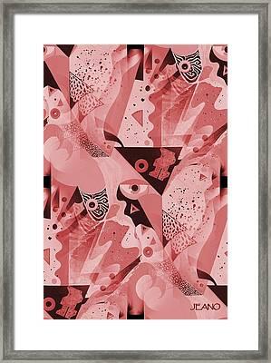 Mauve Melange Framed Print