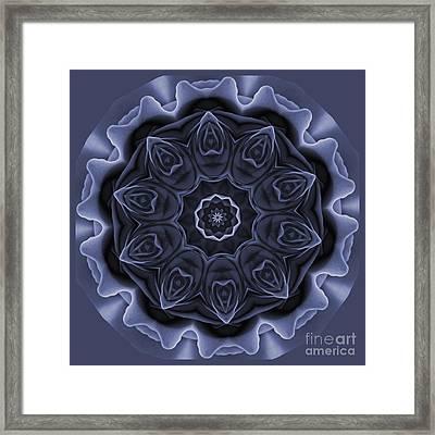 Mauve Rose Mandala Framed Print