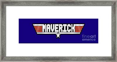 Maverick Callsign Framed Print by Fernando Miranda