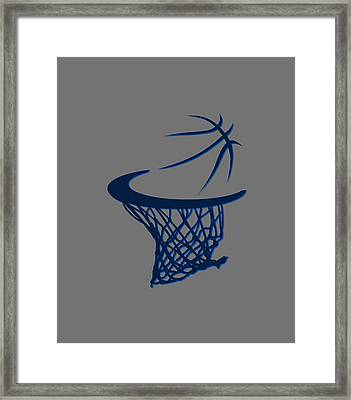 Mavericks Basketball Hoops Framed Print