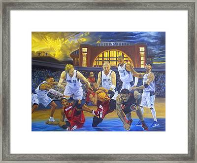 Mavericks Defeat The King And His Court Framed Print