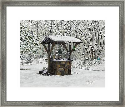 Mavis' Well Framed Print by Mary Ann King