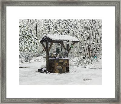 Mavis' Well Framed Print