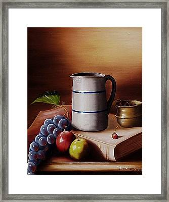 Framed Print featuring the painting Maws Pitcher by Gene Gregory