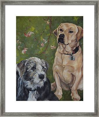 Max And Molly Framed Print