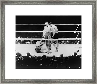 Max Baer 1909-1959, Knocked Framed Print by Everett