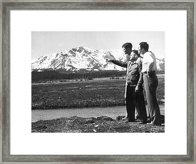 Max Baer At Lake Tahoe Framed Print by Underwood Archives