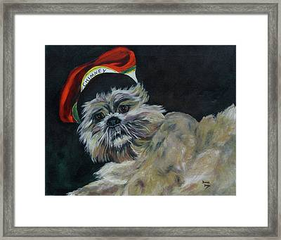 Max In Red Hat Framed Print