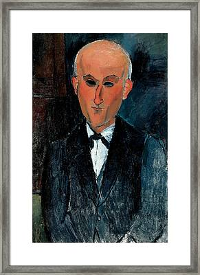 Max Jacob Framed Print by Amedeo Modigliani