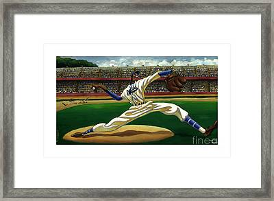 Max On The Mound Framed Print by Keith Shepherd