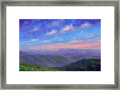 Max Patch North Carolina Framed Print by Jeff Pittman