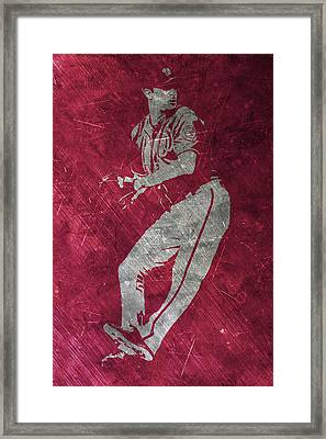 Max Scherzer Washington Nationals Art Framed Print