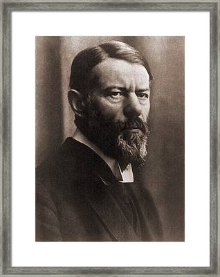 Max Weber 1864-1920, German Political Framed Print