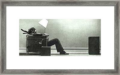 Maxell Ad Blown Away Guy Framed Print