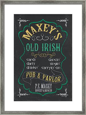 Maxey's Old Irish Pub Framed Print by Debbie DeWitt