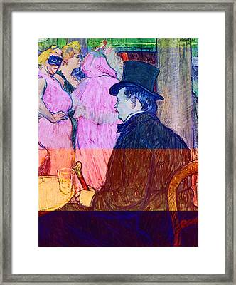 Maxime Dethomas On The Opera Ball Framed Print by Toulouse Lautrec