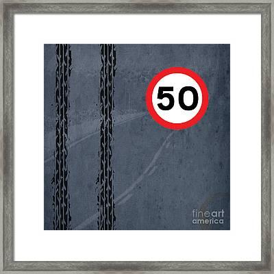 Maximum Speed 50 Framed Print