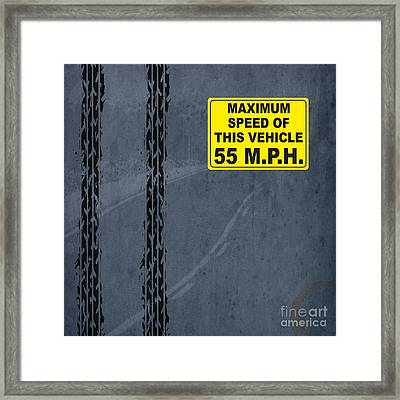 Maximum Speed 55 Mph Framed Print by Pablo Franchi