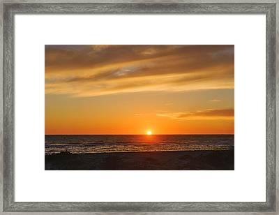 Maxine Barritt Park Sunset  -  Maxbar560 Framed Print by Frank J Benz