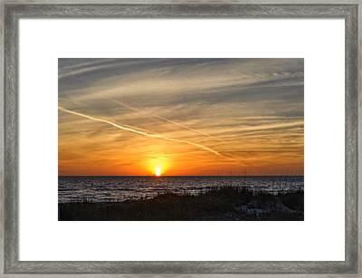 Maxine Barritt Park Sunset   -  Maxbarr874 Framed Print by Frank J Benz