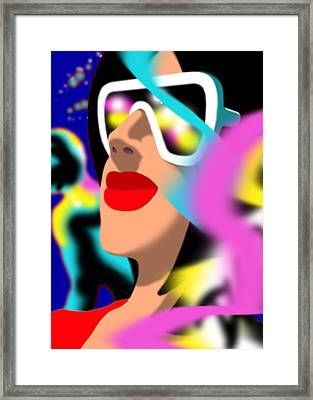 Maxine Midnight Framed Print by Tom Dickson