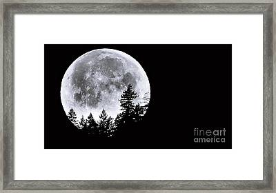 May 4 Moon Set Framed Print by Julia Hassett