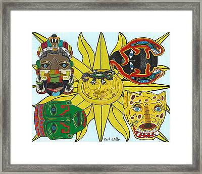 May  Aztec Masks Framed Print