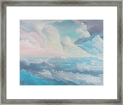 May Colored Clouds Framed Print by John Wise