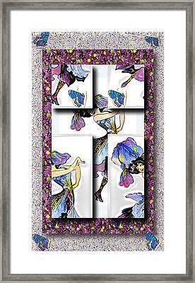 May Day Dancer Framed Print