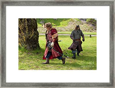 May Day Picnic Show In Janowiec Castle Framed Print