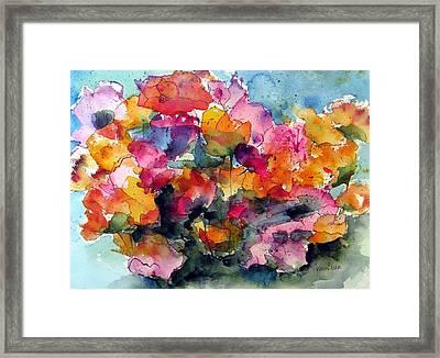 May Flowers Framed Print by Anne Duke