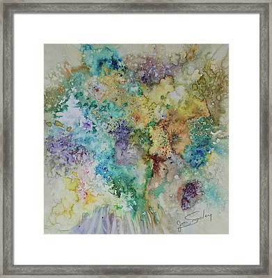 Framed Print featuring the painting May Flowers by Joanne Smoley
