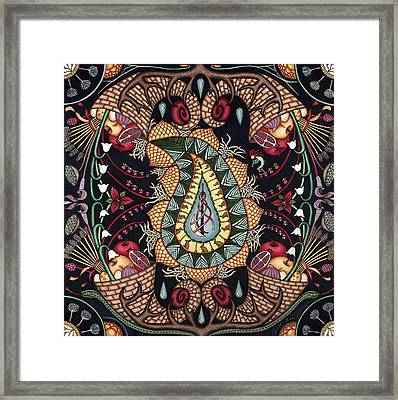 May Mandala Or Fertility Framed Print by Jess-o